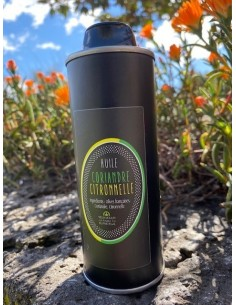 Bidon métal huile parfumée 250 ml coriandre-citronnelle lot n°13