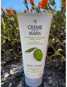 Crème pour les mains à l'huile d'olive vierge extra et aux extraits de fleurs d'oliviers 100 ml
