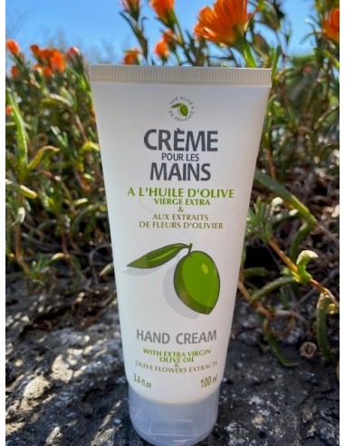 HAND CREAM OIL EXTRA VIRGIN OLIVE AND EXTRACTS FROM FLOWERS OF OLIVE TREES 100 ML