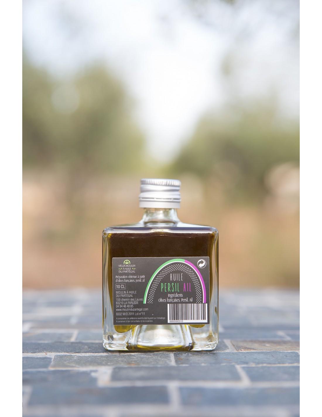 bouteille de 100 ml persil ail vieux moulin huile du part gal. Black Bedroom Furniture Sets. Home Design Ideas